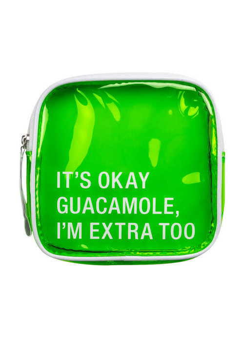 I'm Extra Too Guacamole Vinyl Cosmetic Bag