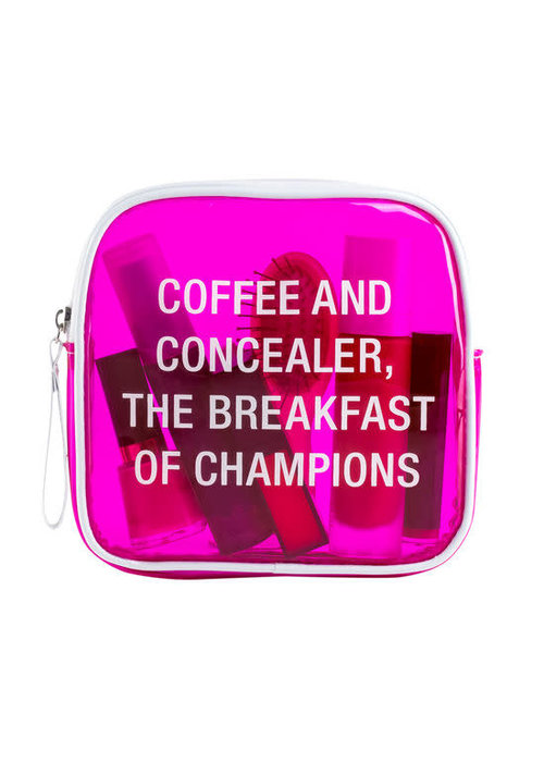 Coffee and Concealer Vinyl Cosmetic Bag