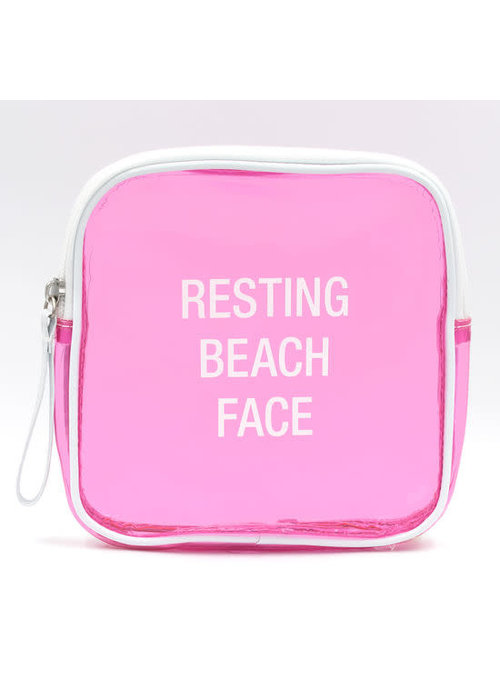 Resting Beach Face Vinyl Cosmetic Bag