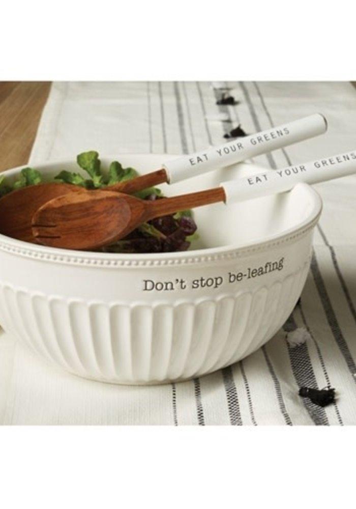 Don't Stop Be-Leafing Salad Bowl Set