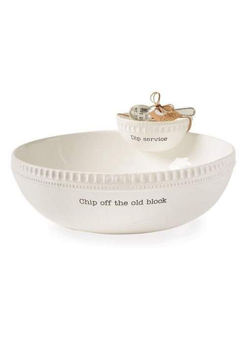 Mudpie Chip Off the Old Block Stacked Chip & Dip Set