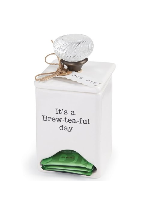 Mudpie It's a Brew-Tea-Ful Day Tea Bag Caddy