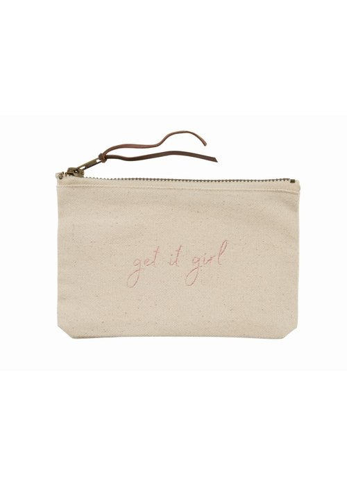 Mudpie Get It Girl Canvas Pouch