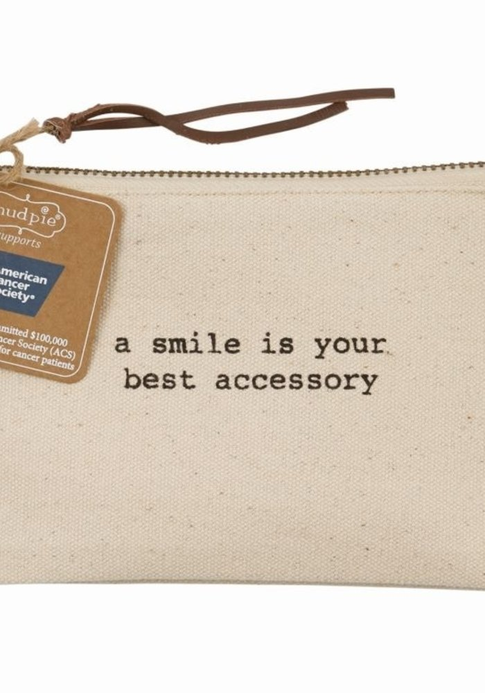 A Smile is Your Best Accessory Canvas Pouch