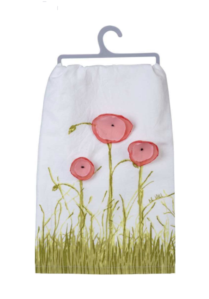 Be Still Floral Tea Towel