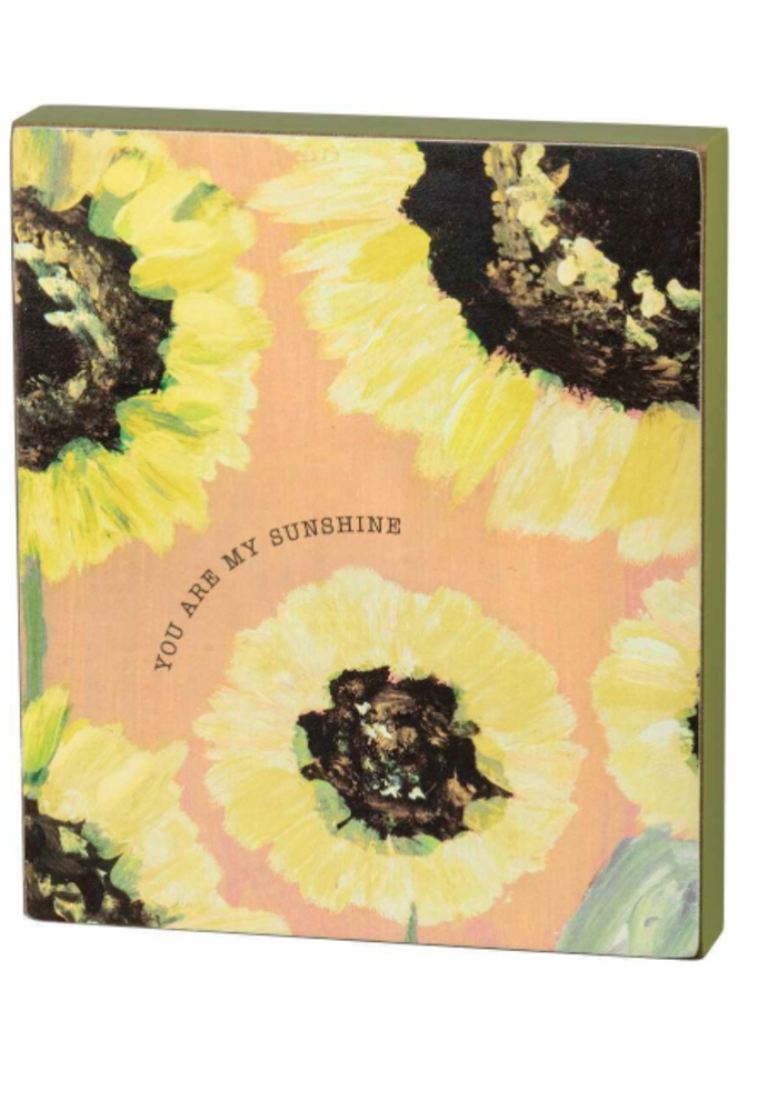 You Are My Sunshine Floral Box Sign