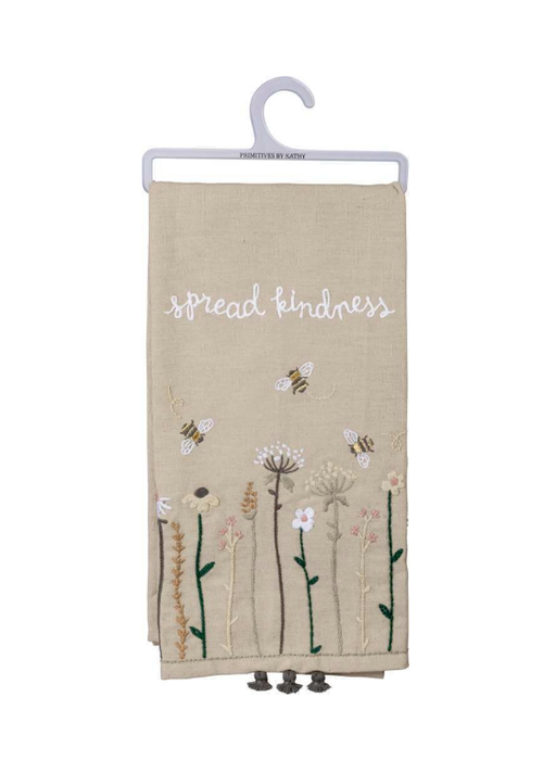 Spread Kindness Tiny Tassel Tea Towel