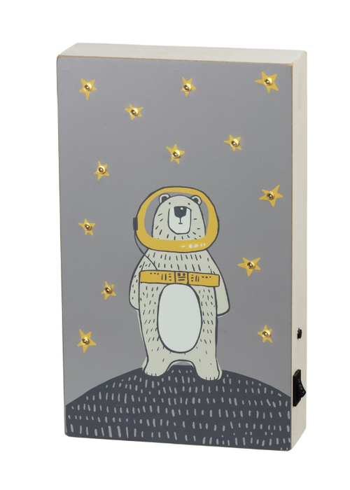 Space Bear LED Box Sign