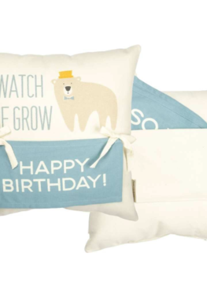 Bear Milestone Pillow