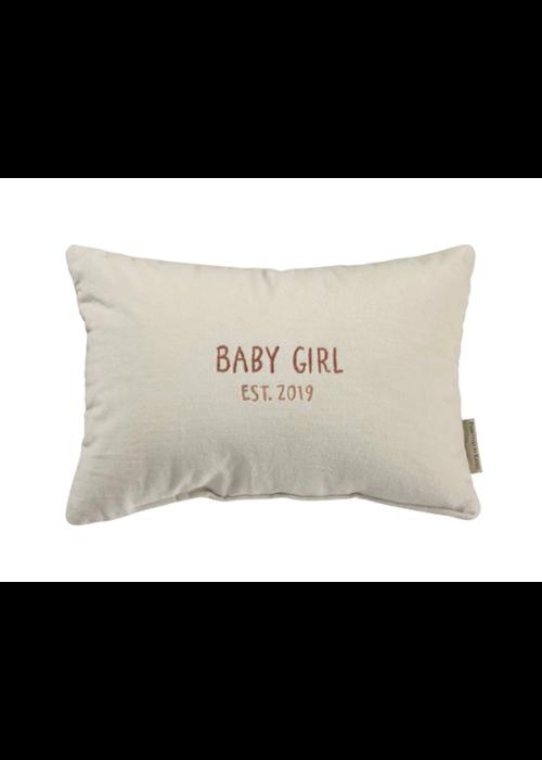 Baby Girl Est. 2019 Pillow