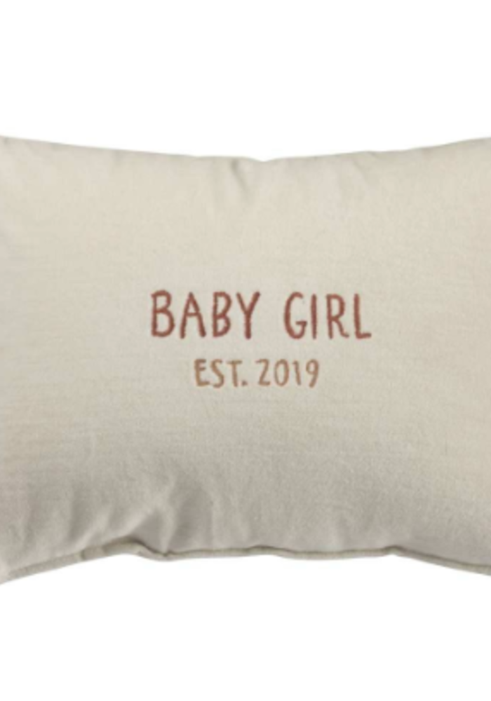 Baby Girl Est. 2019 Pillow