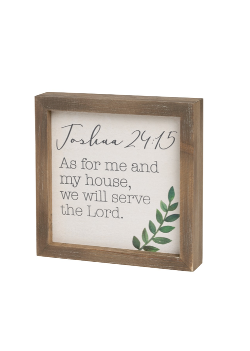 As For Me and My House Framed Box SIgn