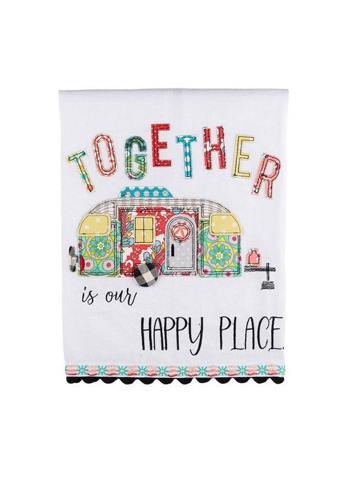 Together is Our Happy Place Camper Tea Towel