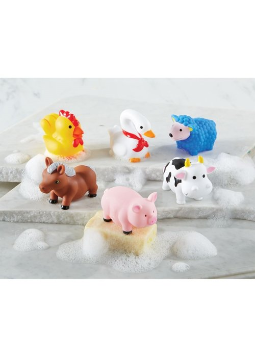 Mudpie Farm Animal Rubber Bath Toy Set