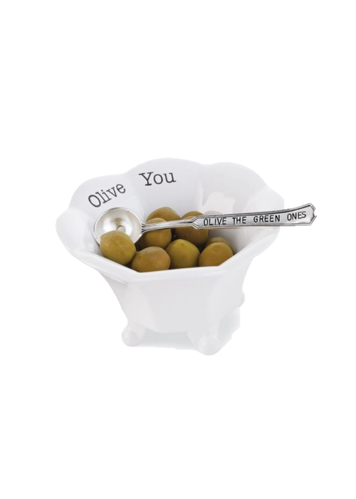 Mudpie Olive You Green Olive Condiment Cup