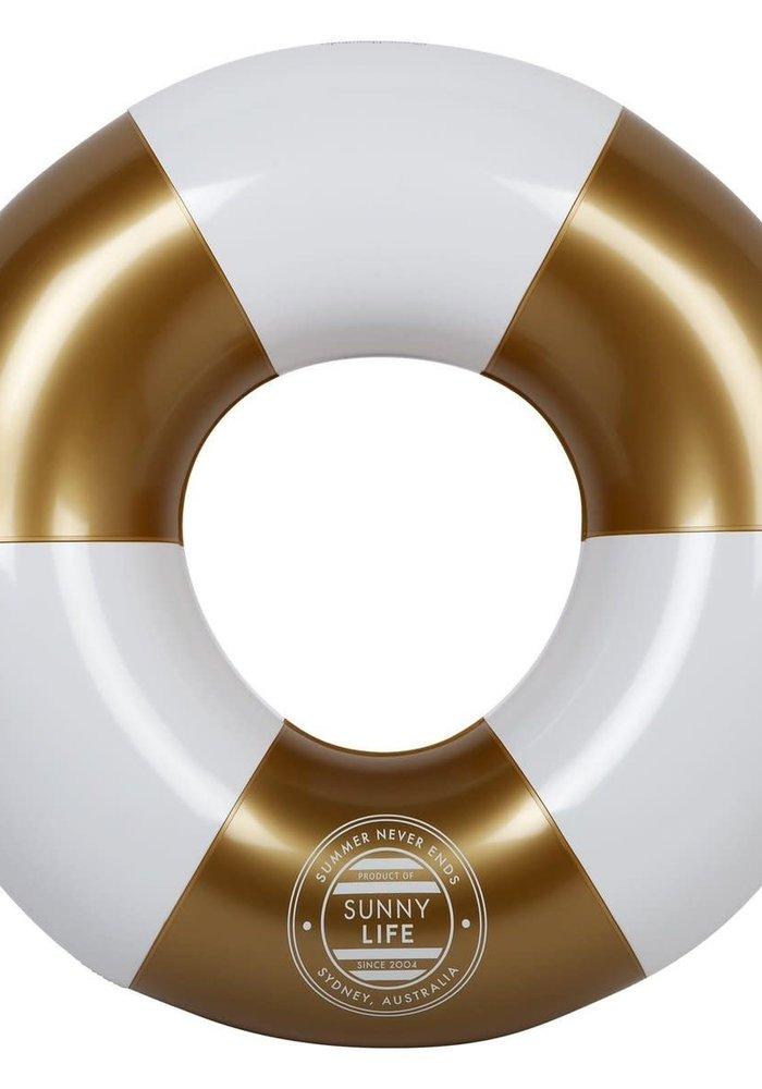 Gold & White Pool Ring