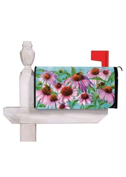 Bees and Coneflowers Mailbox Cover