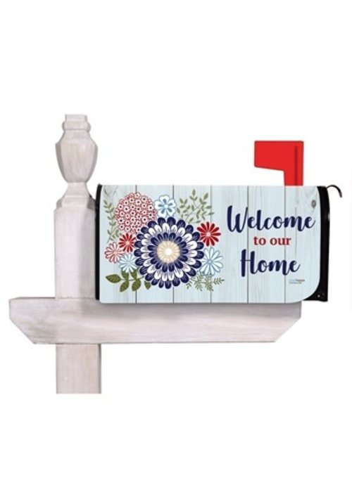 Americana Floral Mailbox Cover