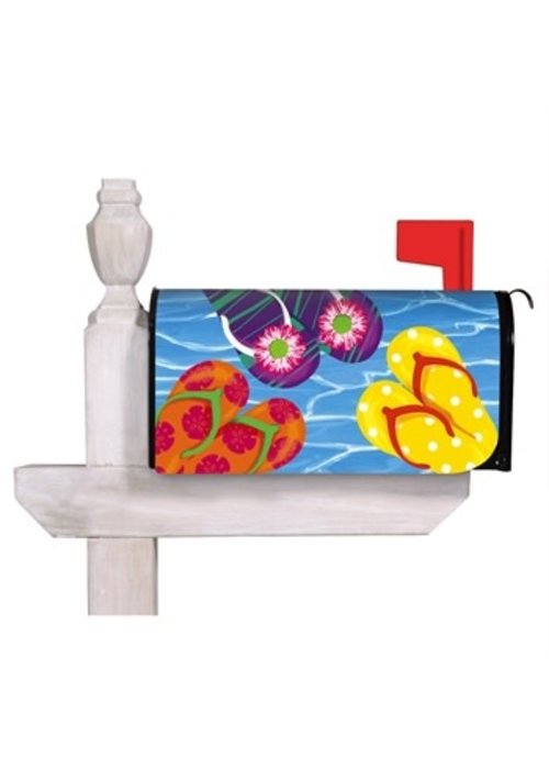 Bright Flip Flops Mailbox Cover