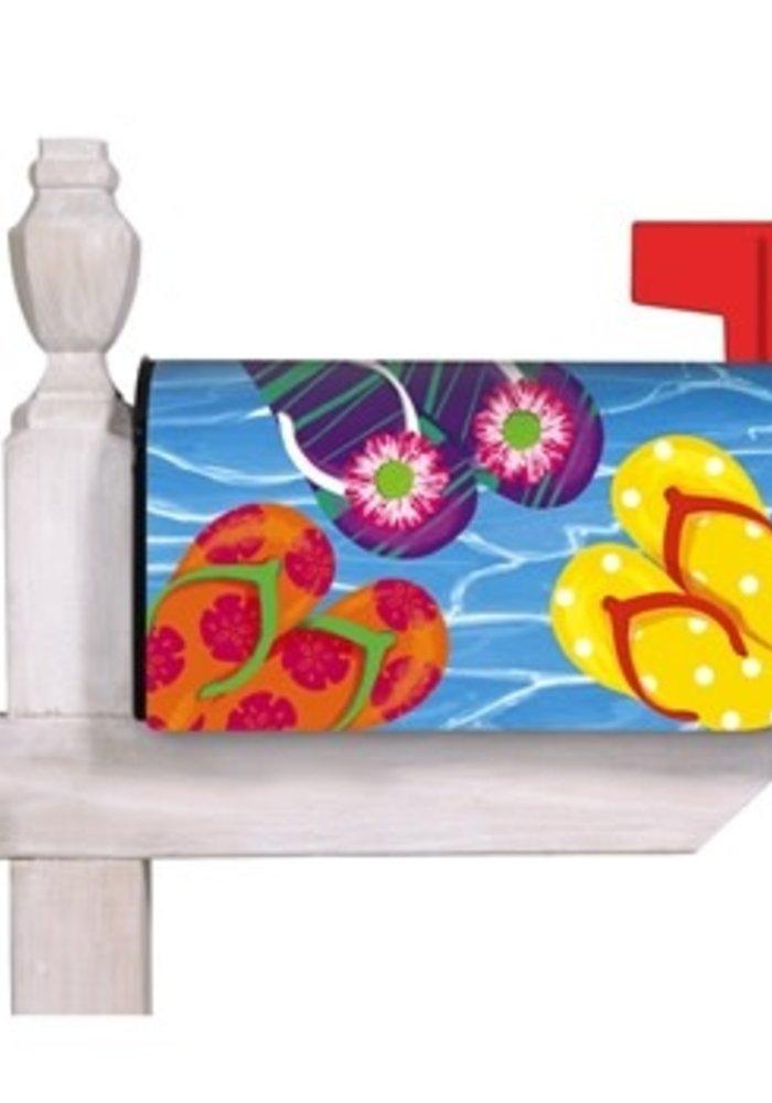Bright Flip Flops Mailbox Cover