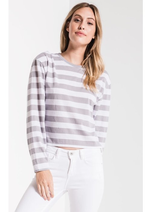 Z Supply The Sienna Skimmer Crop Stripe Tee