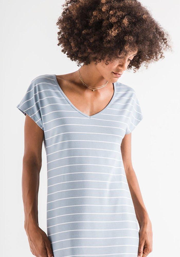 The Stripe Midi Drop Dress