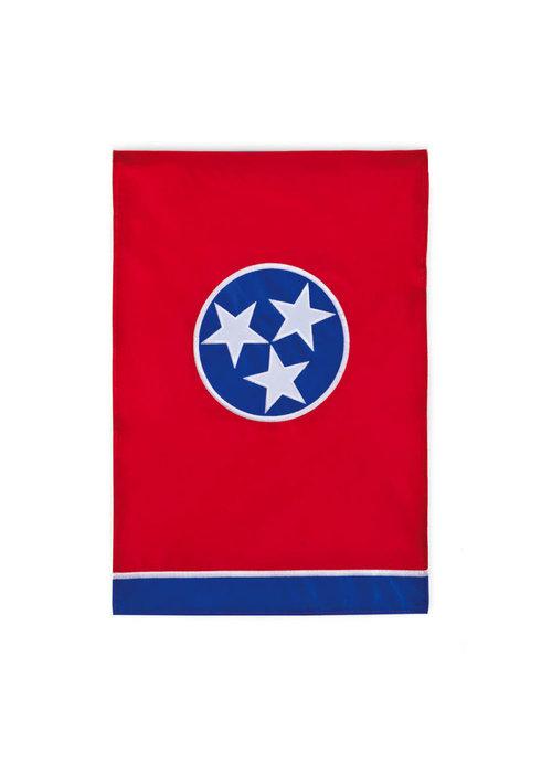 Tennessee State Tristar Garden Flag