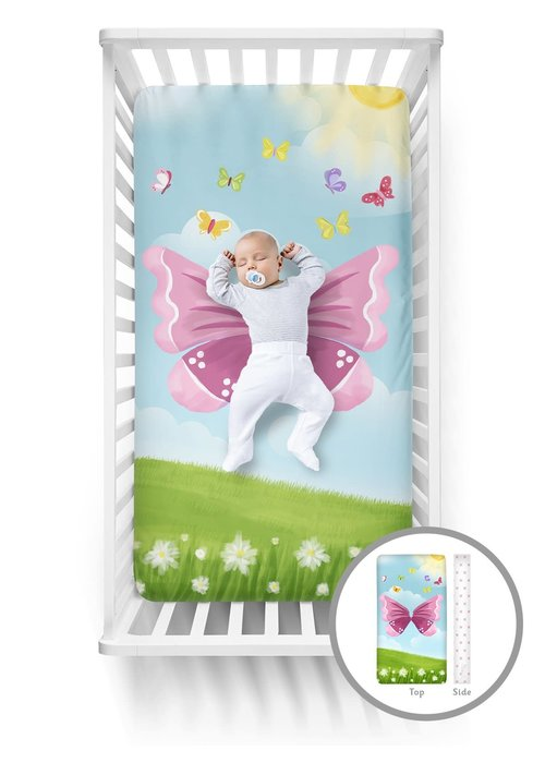 Butterfly Luvsy Crib Sheet