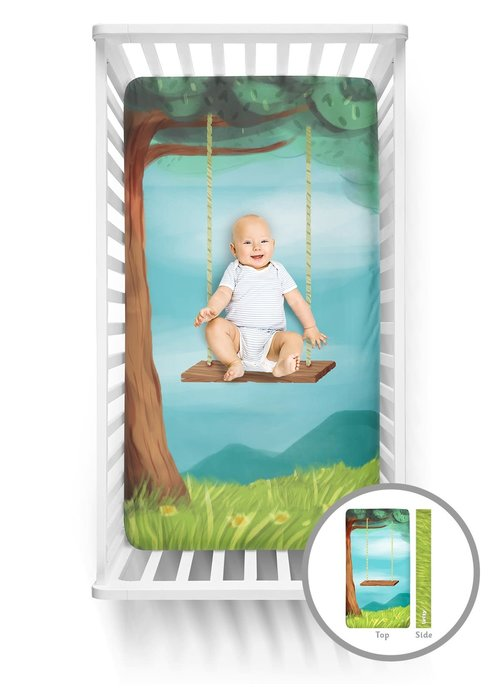 Tree Swing Luvsy Crib Sheet
