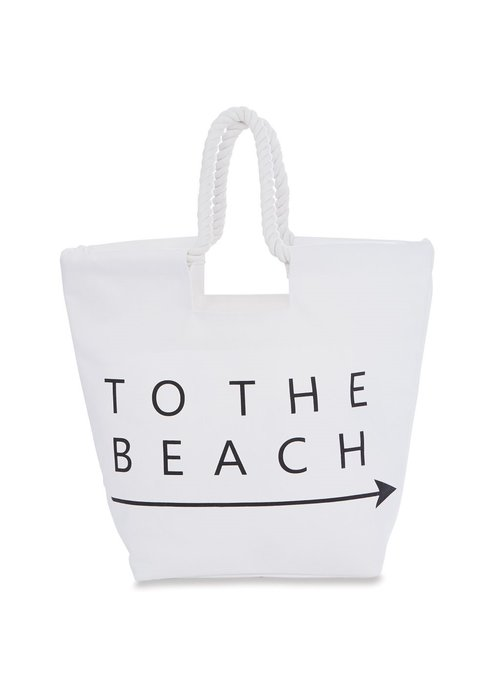 Mudpie To The Beach Canvas Tote
