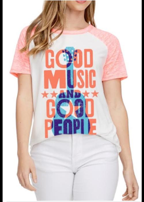 Good Music Good People Graphic Tee