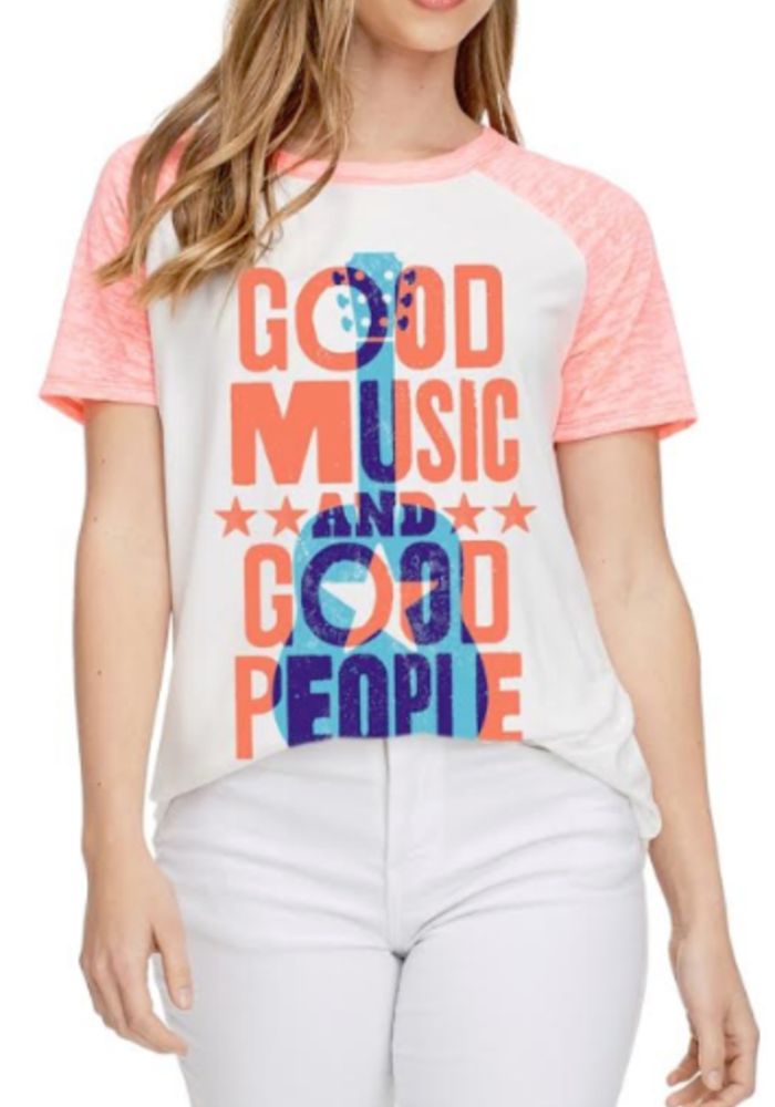 Good Music Good People Graphic Tee