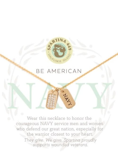 Spartina 449 Mermaids For Military Navy Necklace