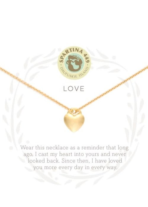 "Spartina 449 Sea La Vie 18"" Love/Heart Gift Message Necklace"
