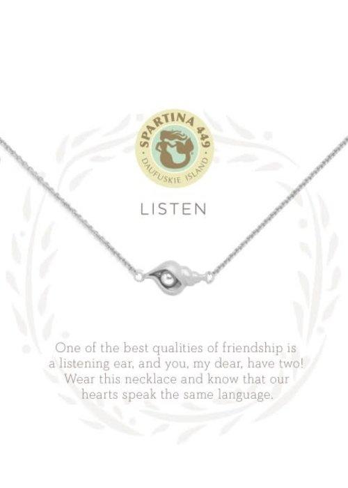 "Spartina 449 Sea La Vie ""Listen"" Gift Message Necklace"