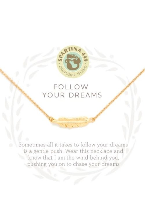 "Spartina 449 Sea La Vie ""Follow Your Dreams"" Gift Message Necklace"