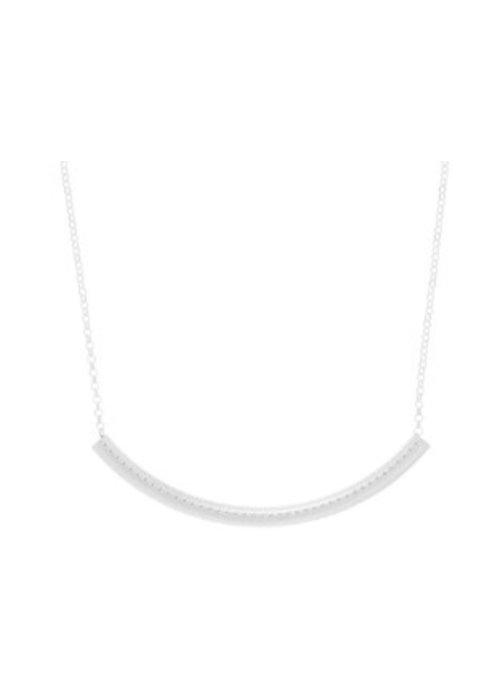 Enewton Bliss Bar Textured Sterling Necklace