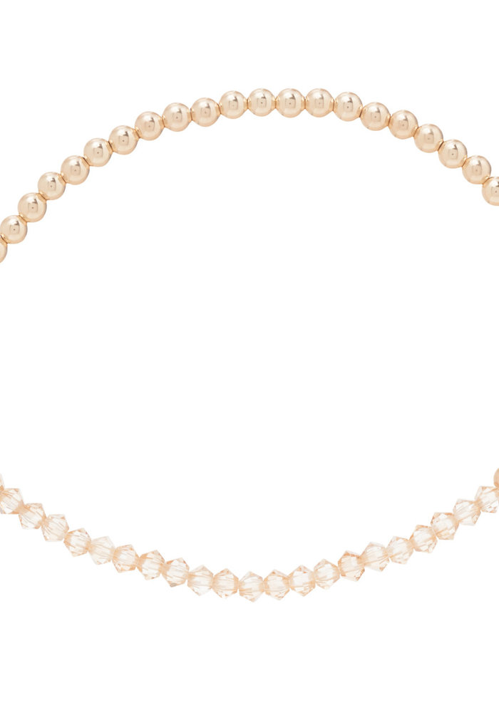 Crystal Bliss Gold Bead Bracelet