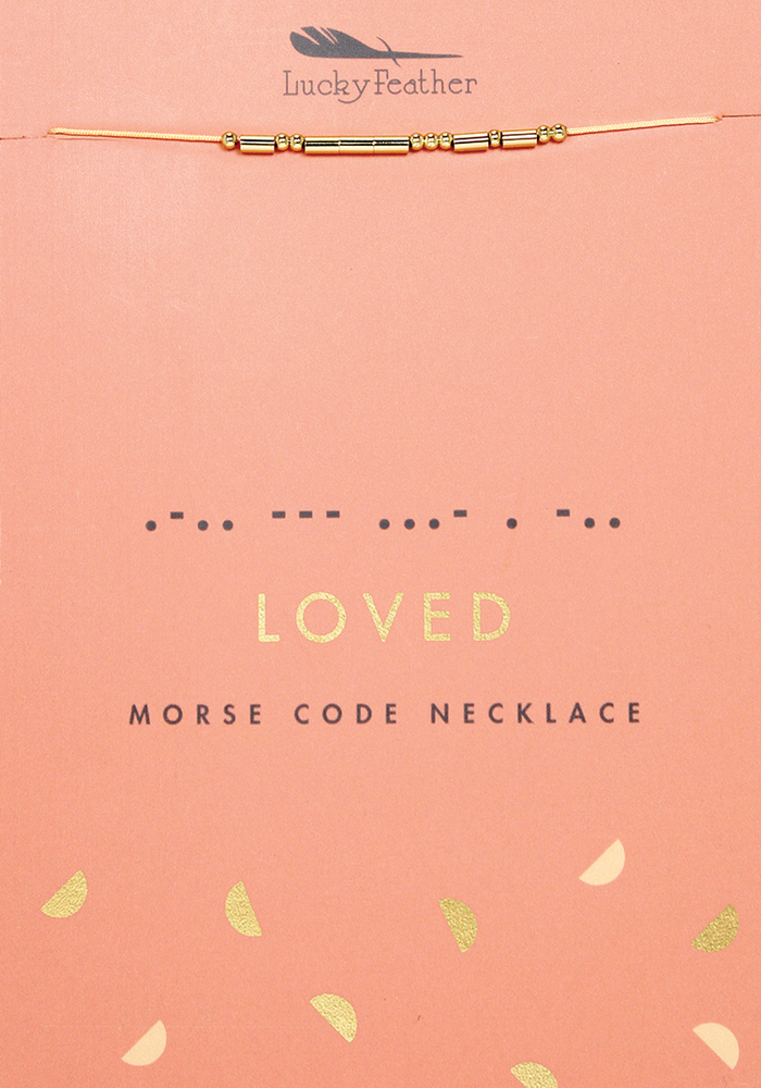 Morse Code Message Necklace