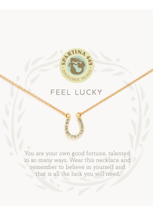 "Spartina 449 Sea La Vie ""Feel Lucky"" Gift Message Necklace"