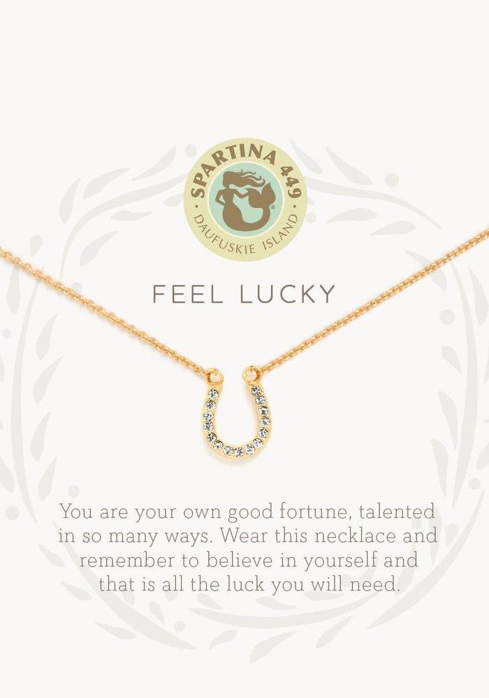 "Sea La Vie ""Feel Lucky"" Gift Message Necklace"