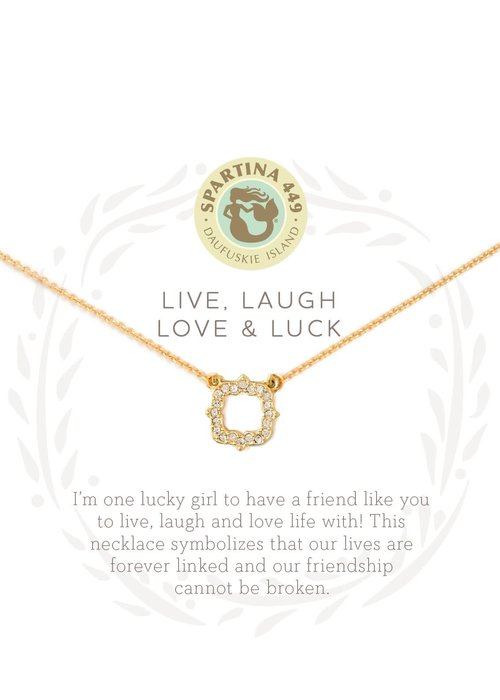 "Spartina 449 Sea La Vie ""Luck"" Gift Message Necklace"