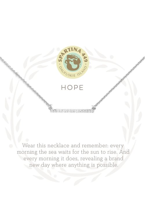 "Spartina 449 Sea La Vie ""Hope"" Gift Message Necklace"