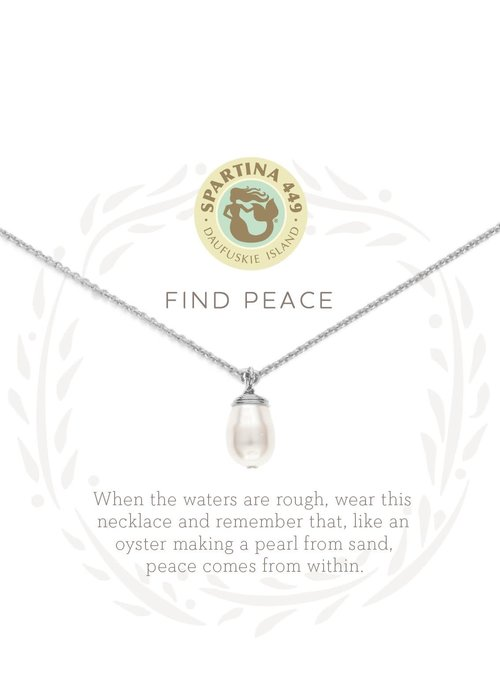 "Spartina 449 Sea La Vie ""Find Peace"" Gift Message Necklace"