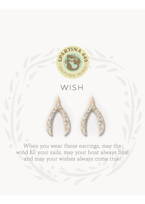 "Spartina 449 Sea La Vie ""Wish"" Gift Message Earrings"