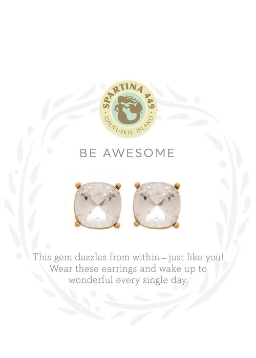 "Spartina 449 Sea La Vie ""Be Awesome"" Gift Message Earrings"