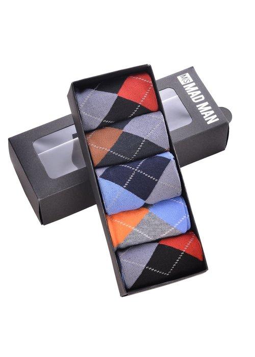 Brite Argyle Boxed Socks