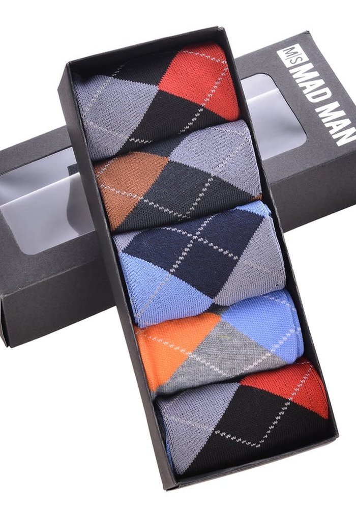 Brite Argyle Boxed Socks