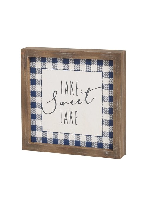 Sweet Lake Framed Sign