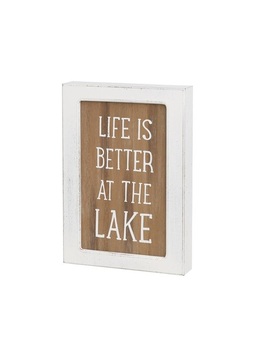 Life Is Better At the Lake Framed Box Sign